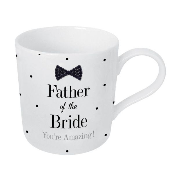 Mad Dots Black Tie Father Of The Bride Mug